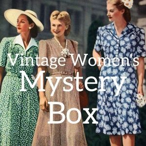 Vintage Womens Mystery Reseller Clothing Box XS-2X